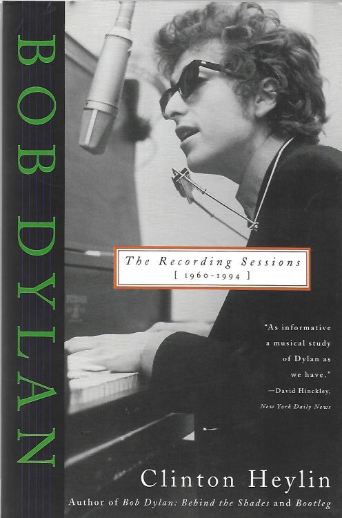 recording sessions 1960-1994 softcover Bob Dylan book