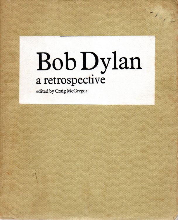 a retrospective Bob Dylan book Picador publisher's proof 1975