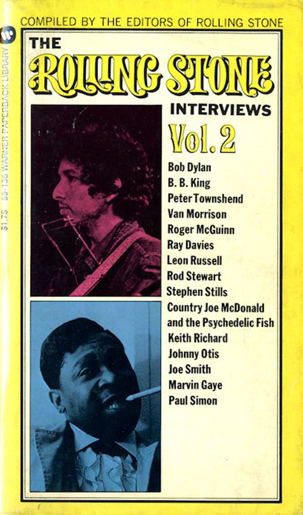 the rolling stone interviews volume 2 Bob Dylan book