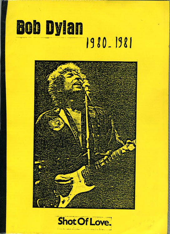 Bob Dylan 1980-1981 shot of love book alternate cover