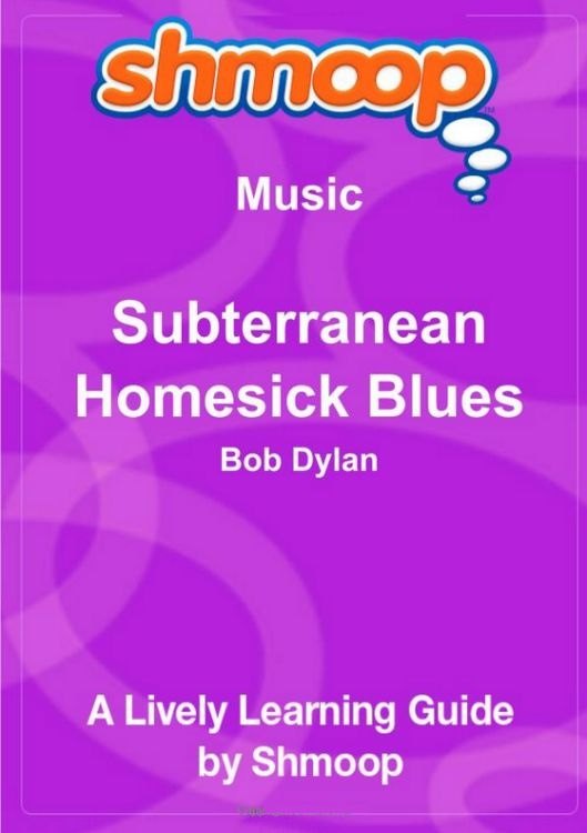 subterranean homesick blues a lively learning guide Bob Dylan book