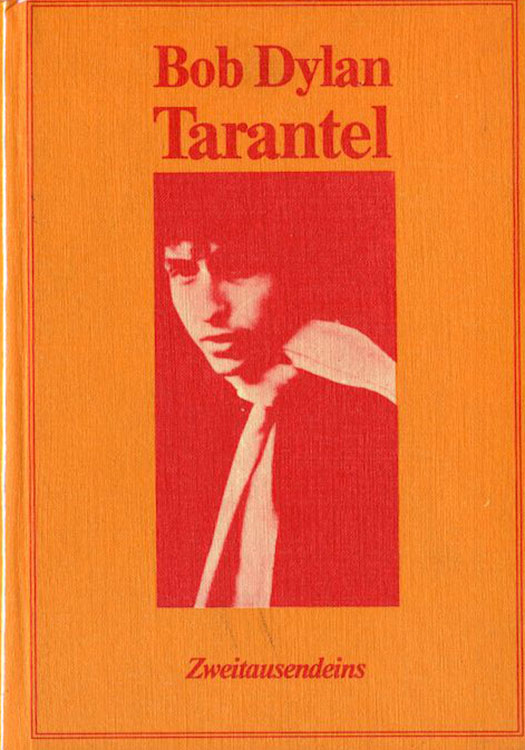 tarantel Zweitausendeins 1976 bob dylan book in German