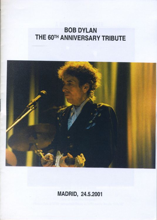 bob dylan the 60th anniversary tribute book in Spanish