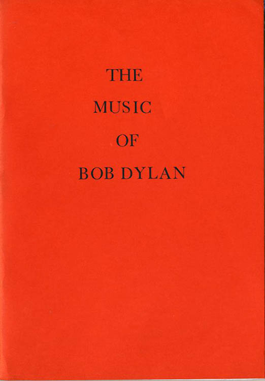 the music of Bob Dylan book