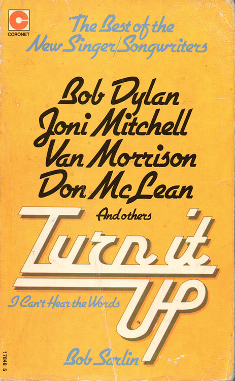 turn it up 1975 Bob Dylan book