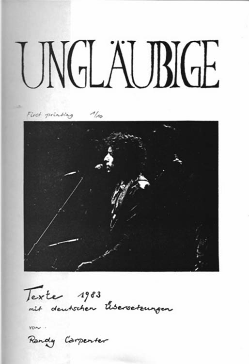 unglaeubigebob dylan book in German