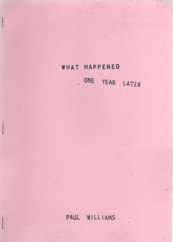 what happened? one year later second printing paul williams Bob Dylan book