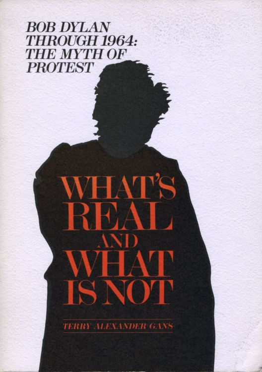 what's real and what is not alternate cover Bob Dylan book