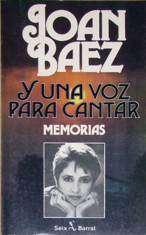 una voz para cantar joan baez  book in Spanish