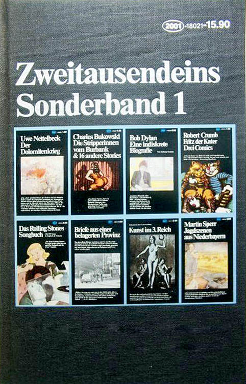 zweitausendeins sonderband 1 bob dylan book in German