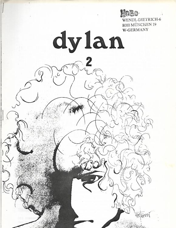 Dylan german #2 hobo Fanzine