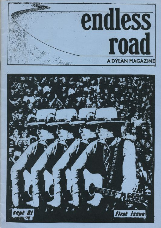 endless road #1 September 81 bob Dylan Fanzine