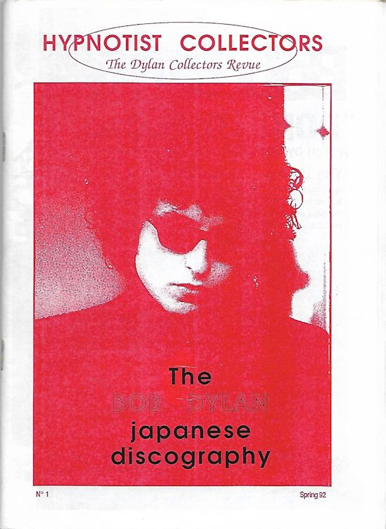 hypnotist collector's the bob Dylan japanese discography Fanzine