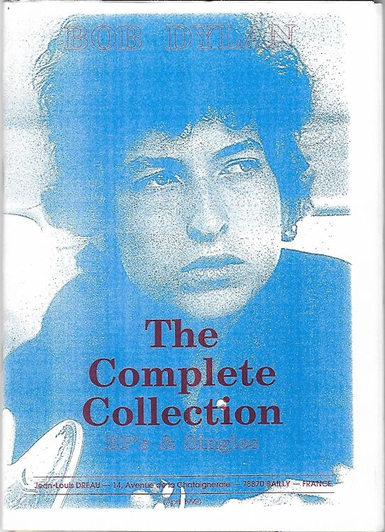 hypnotist collector's bob dylan complete collection ep's and singles