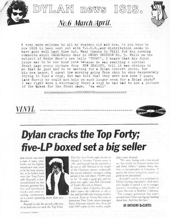 Fanzine Bob Dylan Isis, UK