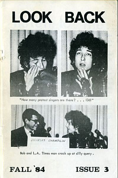 look back #3 bob Dylan Fanzine