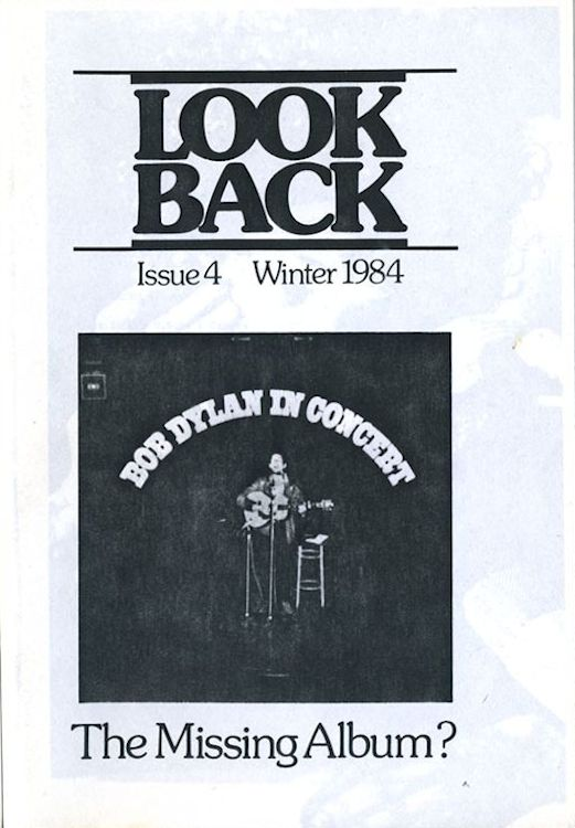 look back #4 bob Dylan Fanzine