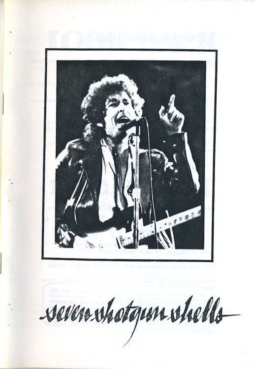 look back #7 bob Dylan Fanzine