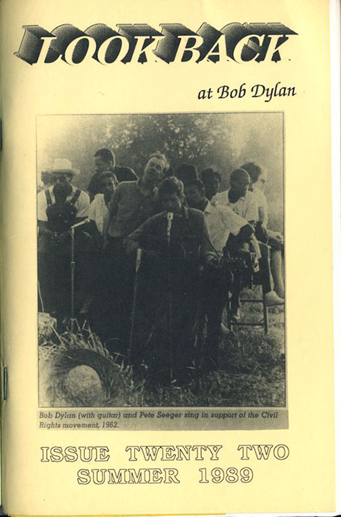 look back #22 bob Dylan Fanzine
