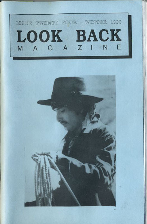 look back #24 bob Dylan Fanzine