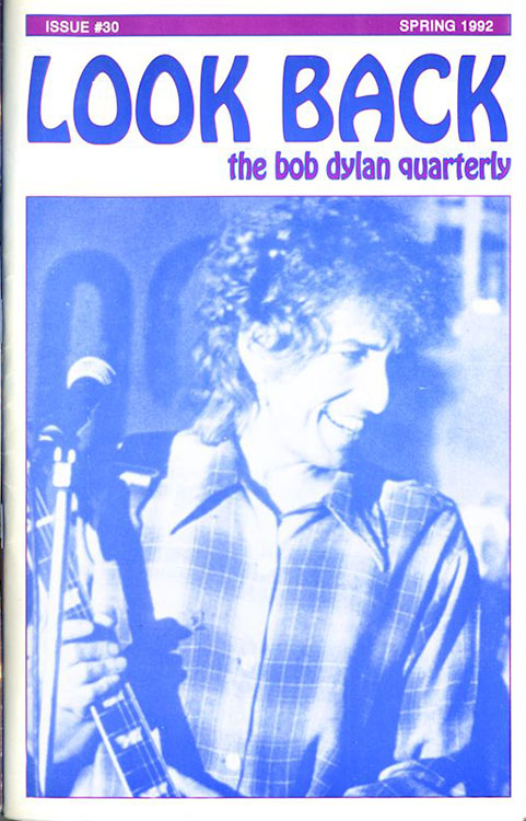 look back #30 bob Dylan Fanzine