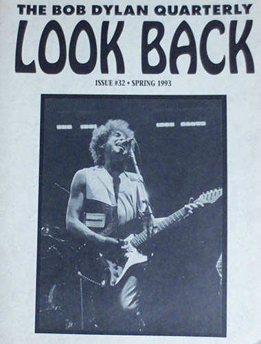 look back #32 bob Dylan Fanzine