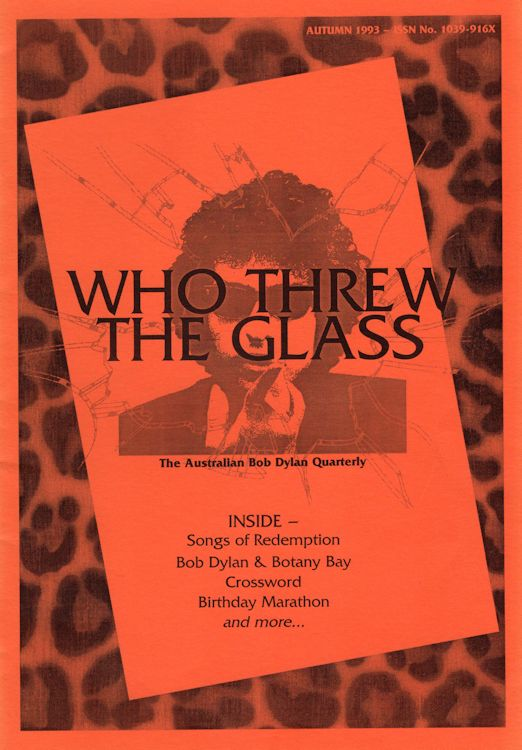 who threw the glass #1 bob Dylan Fanzine