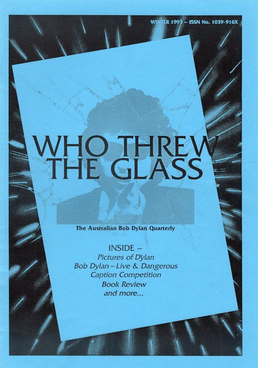 who threw the glass #2 bob Dylan Fanzine