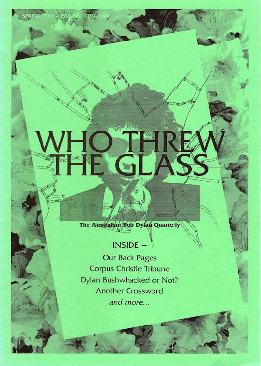 who threw the glass #3 bob Dylan Fanzine