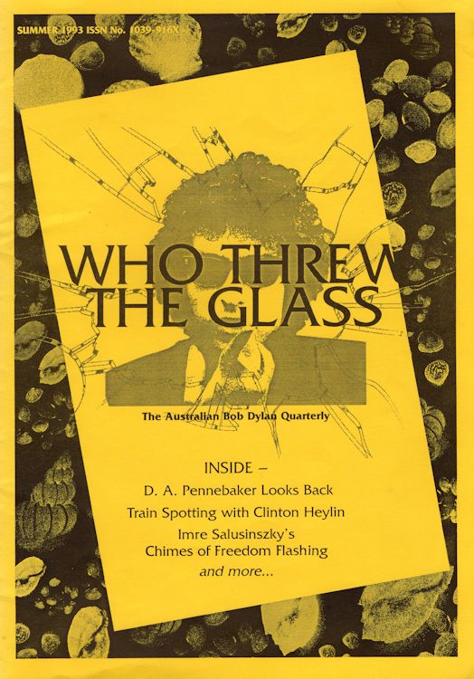 who threw the glass #4 bob Dylan Fanzine
