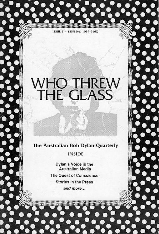 who threw the glass #7 bob Dylan Fanzine