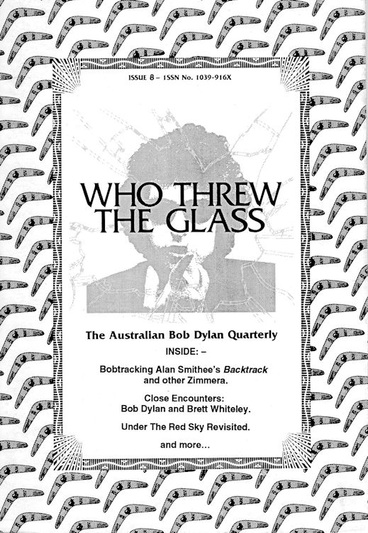 who threw the glass #8 bob Dylan Fanzine