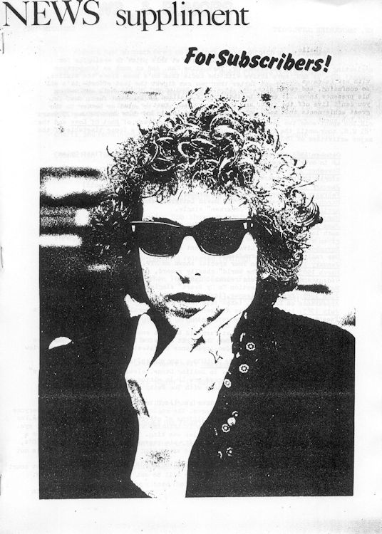 Bob Dylan fanzine Mr Tambourine Man news