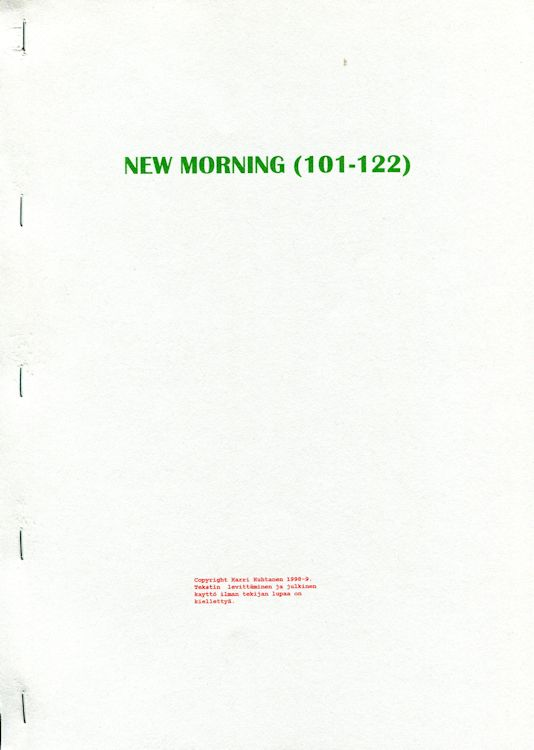 new morning porin 101-122 Dylan book in Finnish