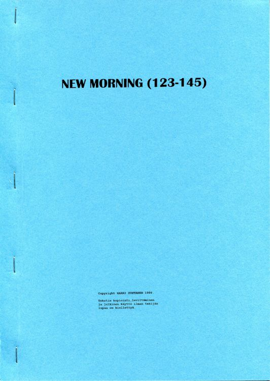 new morning porin 123-145 Dylan book in Finnish