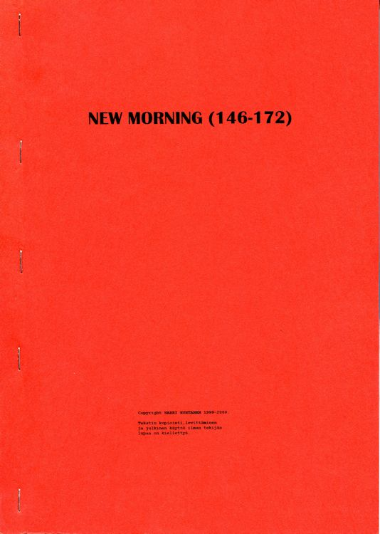 new morning porin 146-172 Dylan book in Finnish