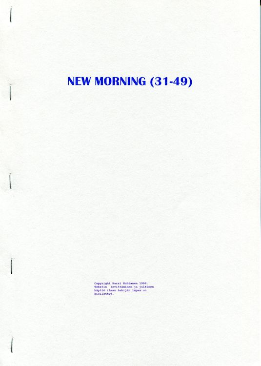 new morning porin 1-30 Dylan book in Finnish