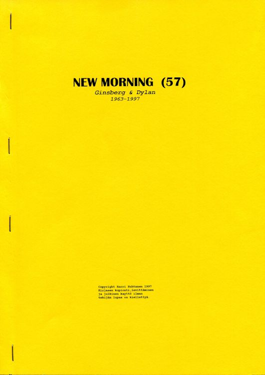 new morning porin 57 Dylan book in Finnish