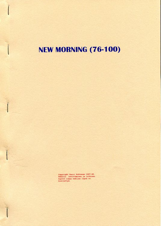 new morning porin 76-100 Dylan book in Finnish