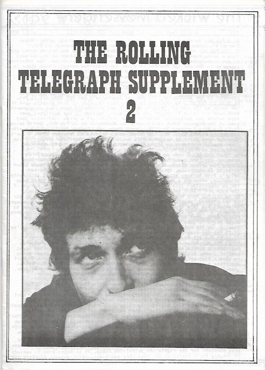 the rolling telegraph supplement #2 bob Dylan Fanzine