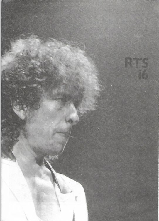 the rolling telegraph supplement #16 bob Dylan Fanzine