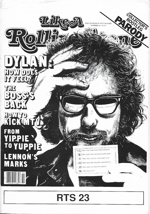 the rolling telegraph supplement #23 bob Dylan Fanzine