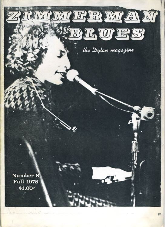 zimmerman blues 8 Dylan Fanzine