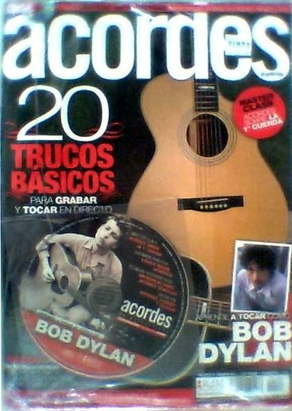 acordes with cd magazine Bob Dylan cover story
