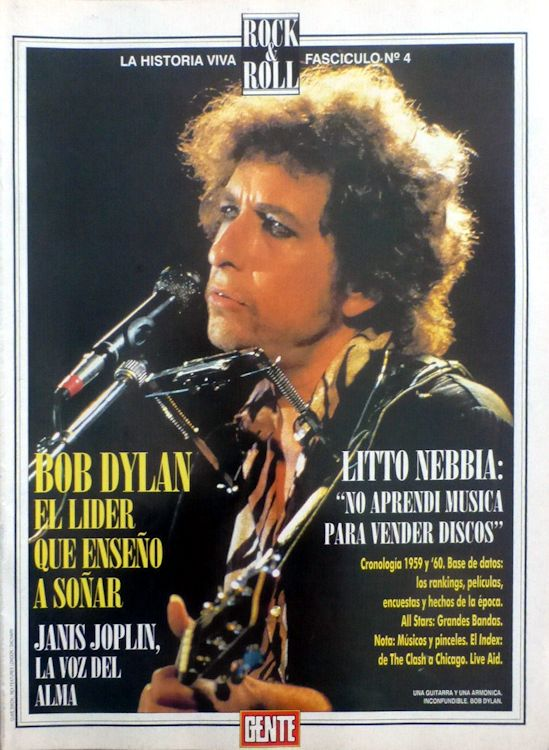 gente argentina magazine Bob Dylan cover story