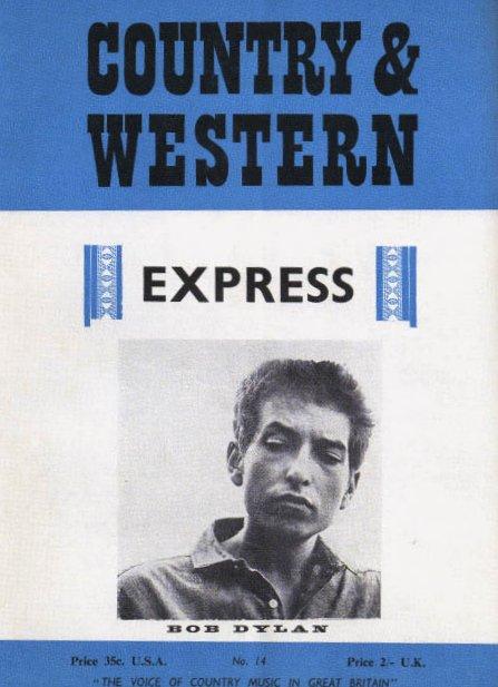 country & western magazine Bob Dylan cover story