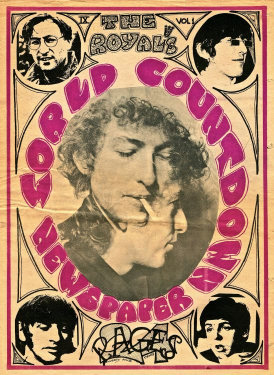 royal world countdown magazine Bob Dylan cover story