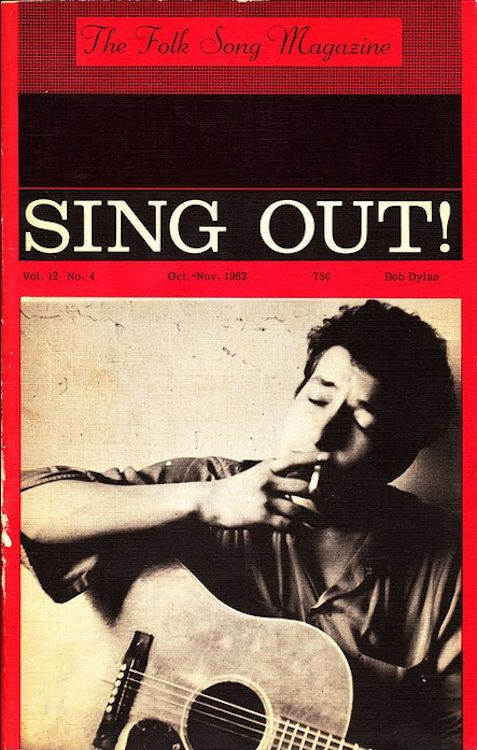 sing out the folksong magazine October 1962 Bob Dylan cover story