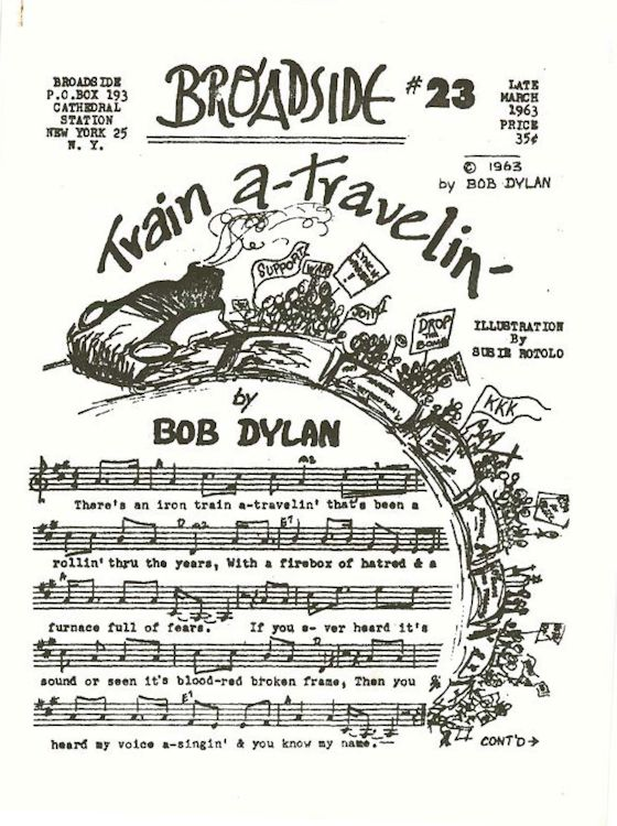 broadside magazine 23 Bob Dylan cover story