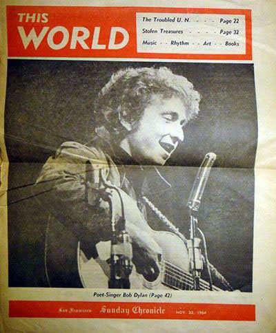 this world san francisco  chronicle magazine Bob Dylan cover story